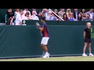 Пародия на Шарапову в большом теннисе